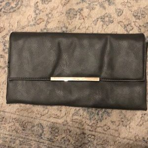 Target brand Grey faux leather clutch